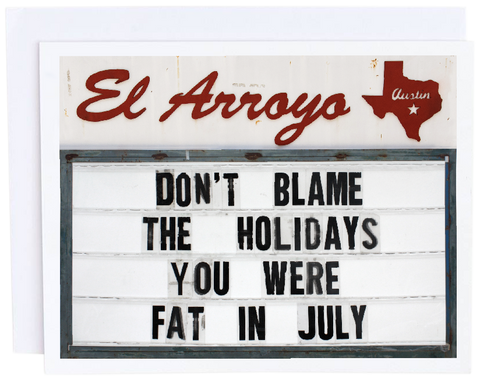 Fat in July Card
