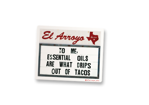 Essential Oils Sticker