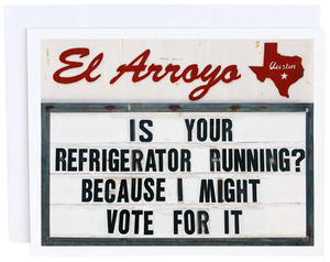 Refrigerator Running Card