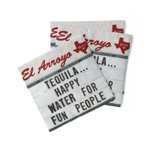 Cocktail Napkins (Pack of 20) - Happy Water