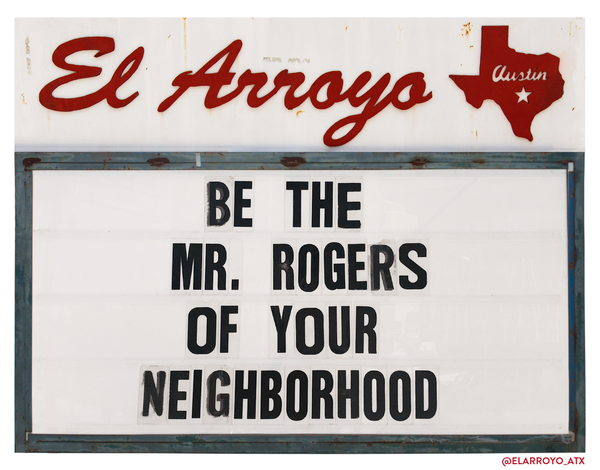 Mr. Rogers Yard Sign