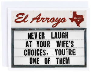 Wife's Choices Card