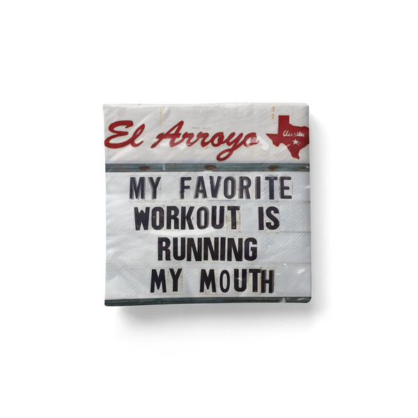 Cocktail Napkins (Pack of 20) - Running My Mouth