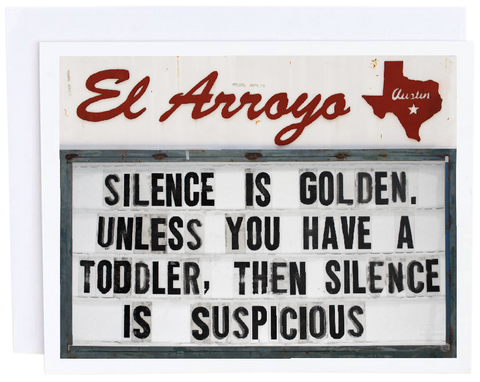 Silence is Golden Card