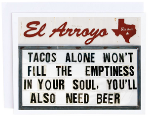 Tacos Alone Card