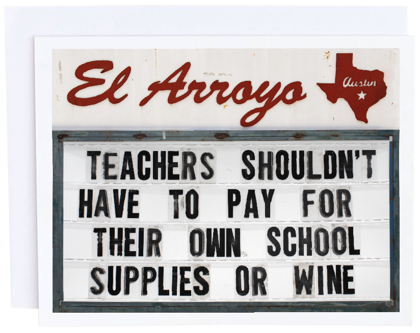 Teachers Shouldn't Pay Card