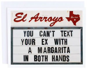 Can't Text Your Ex Card
