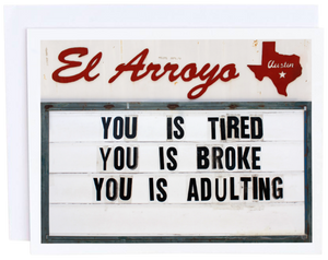El Arroyo Adulting Card
