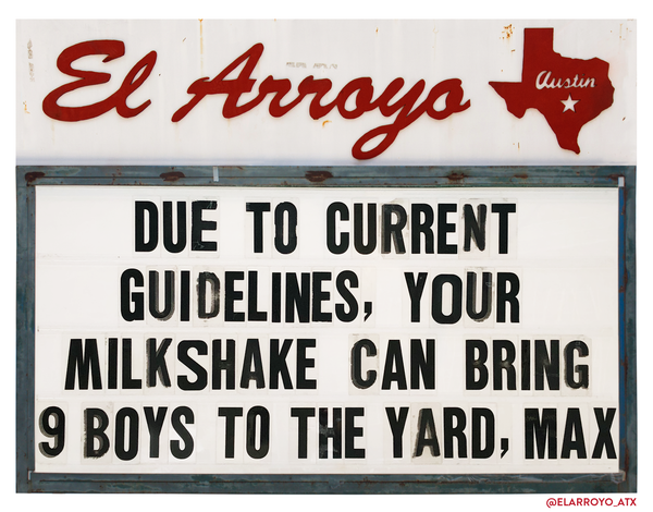 Your Milkshake Yard Sign