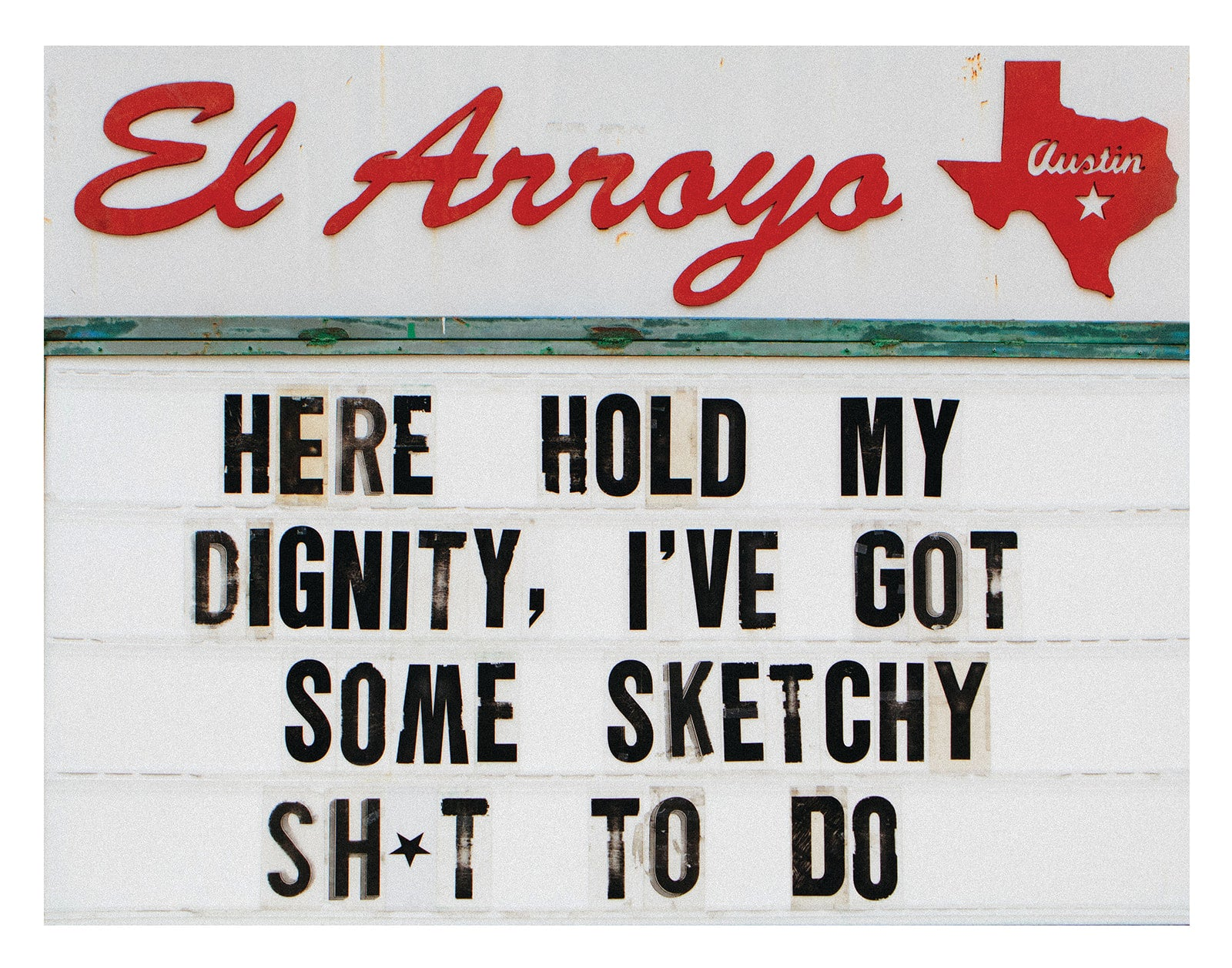 Hold My Dignity Print