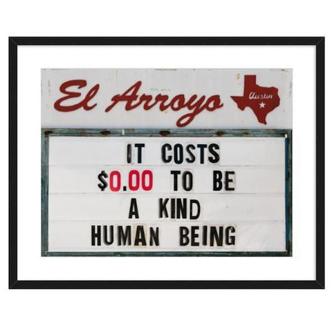 El Arroyo Sign Framed Print