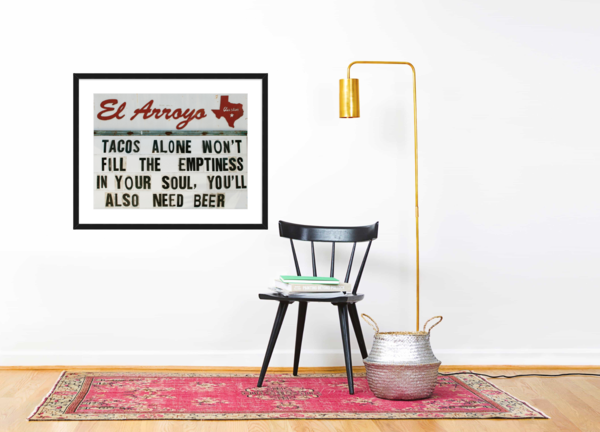 El Arroyo Tacos Alone Framed Print