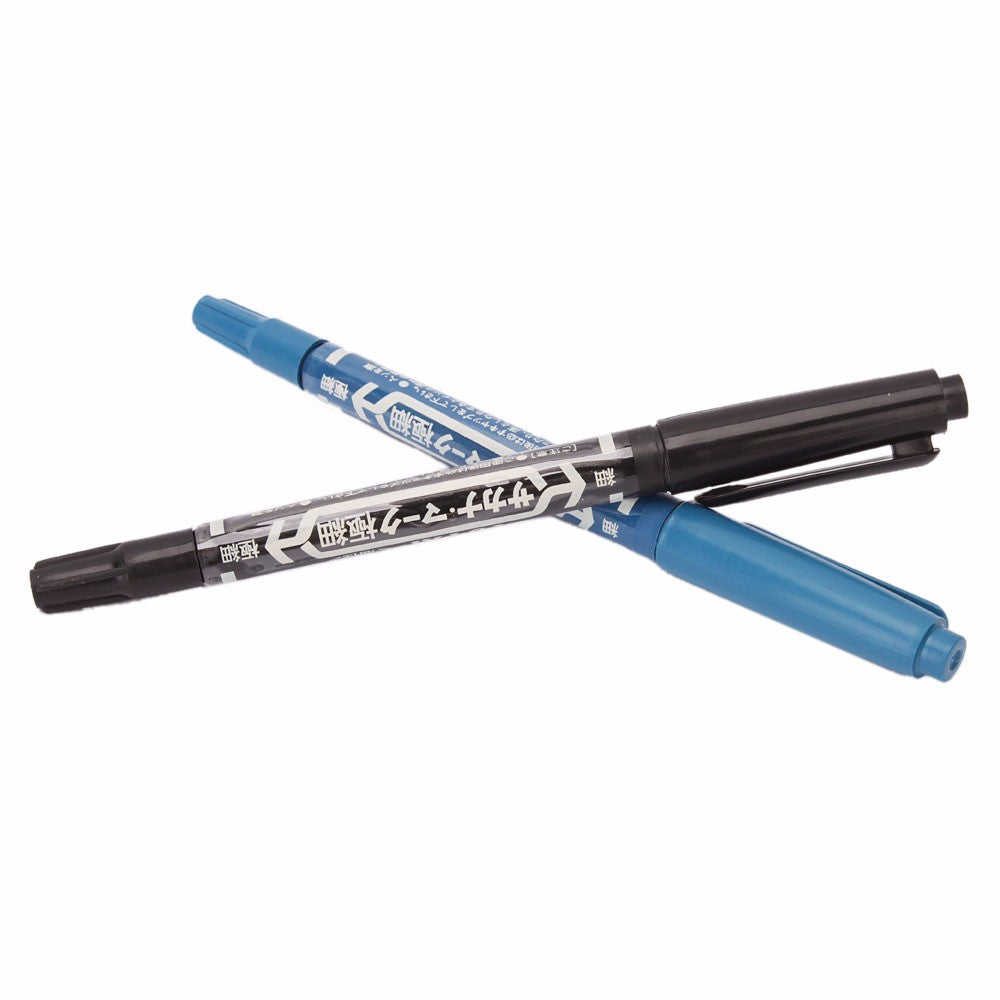 2pcs Tattoo Skin Marker Dual-tip Pen