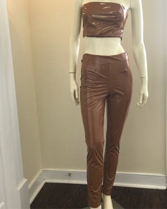 Mocha Latex Two Piece Set