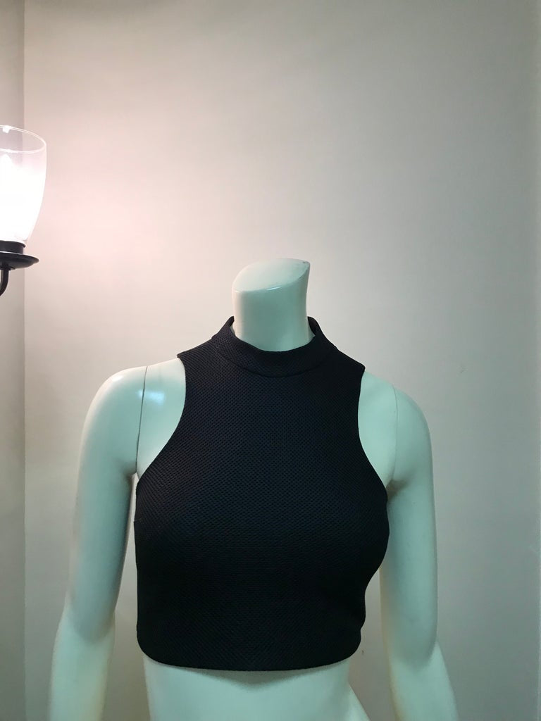 Mock Neck Cage Crop