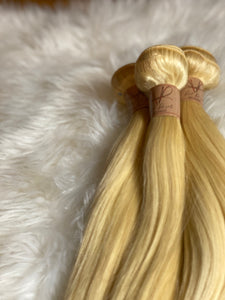 100% 613 Platinum Blonde Virgin Brazilian Bundles & Closures