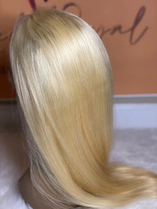 Platinum Blonde Virgin Brazilian Full Lace Wig (22inch)