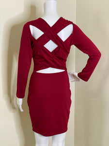 Crisscross Back Sung Dress