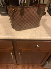 Load image into Gallery viewer, Authentic Louis Vuitton Used Damier Ebene NeverFull PM 2017