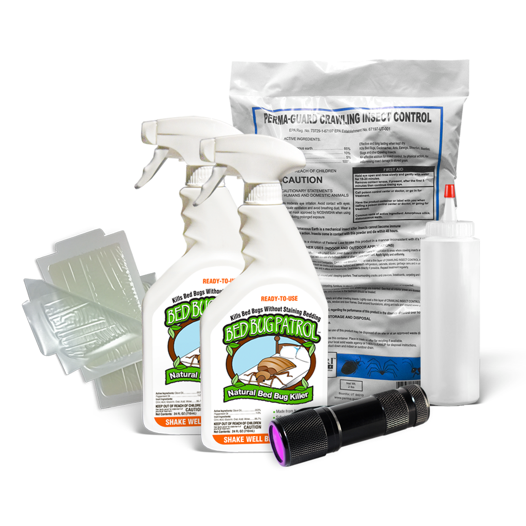 Bed Bug Killer by Bed Bug Patrol - Home Protection Pack (2-3 Rooms)