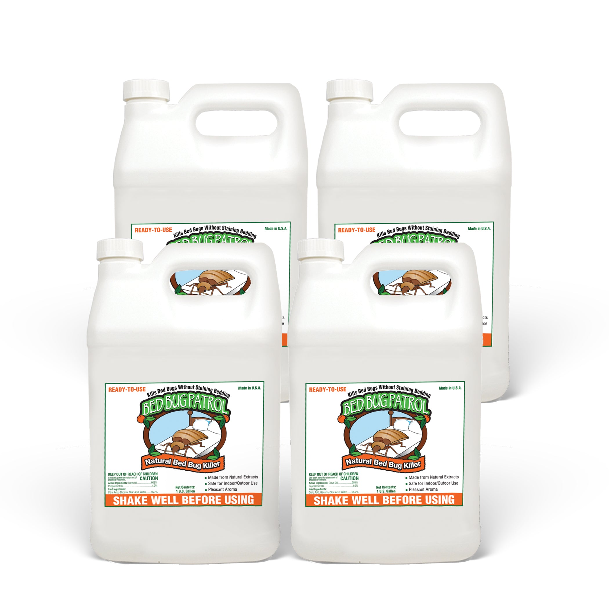 Bed Bug Killer by Bed Bug Patrol - Commercial Gallon Pack