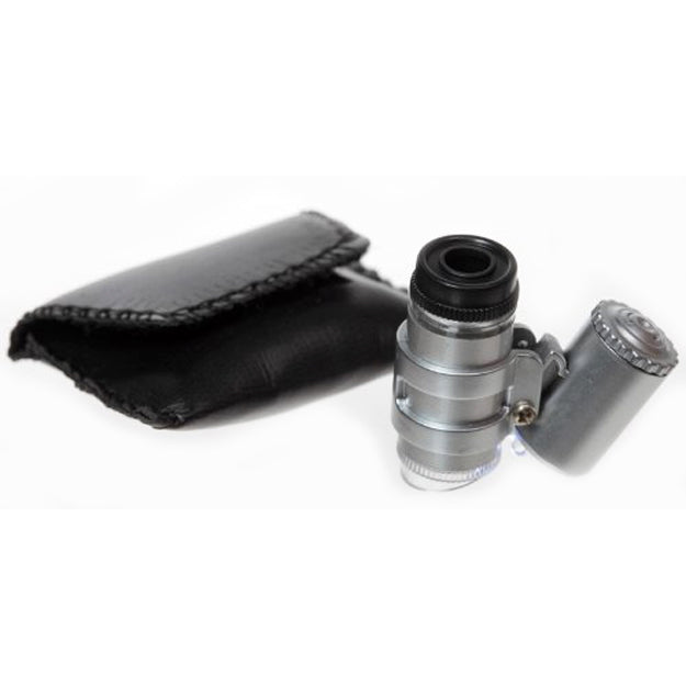 45x Lighted Pocket Microscope with Travel Case