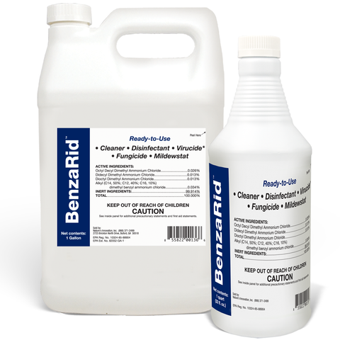 BenzaRid Hospital Grade Cleaner - Disinfectant, Virucide, Fungicide - 5 Gallon Bucket