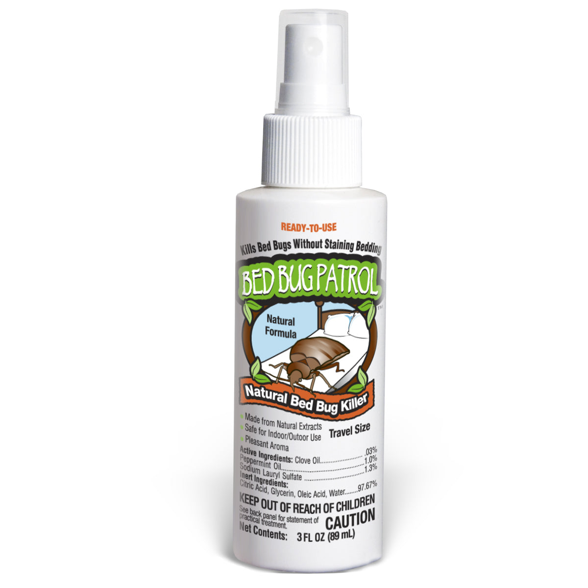 Bed Bug Patrol Bed Bug Killer Travel Size Spray