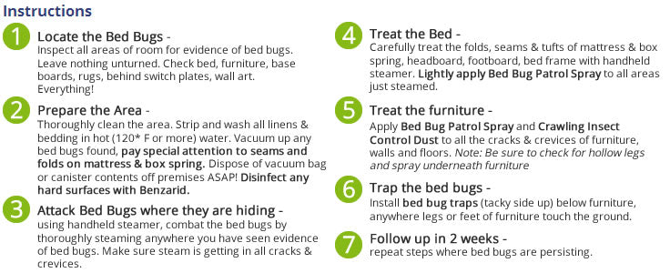 Bed Bug Patrol Instructions