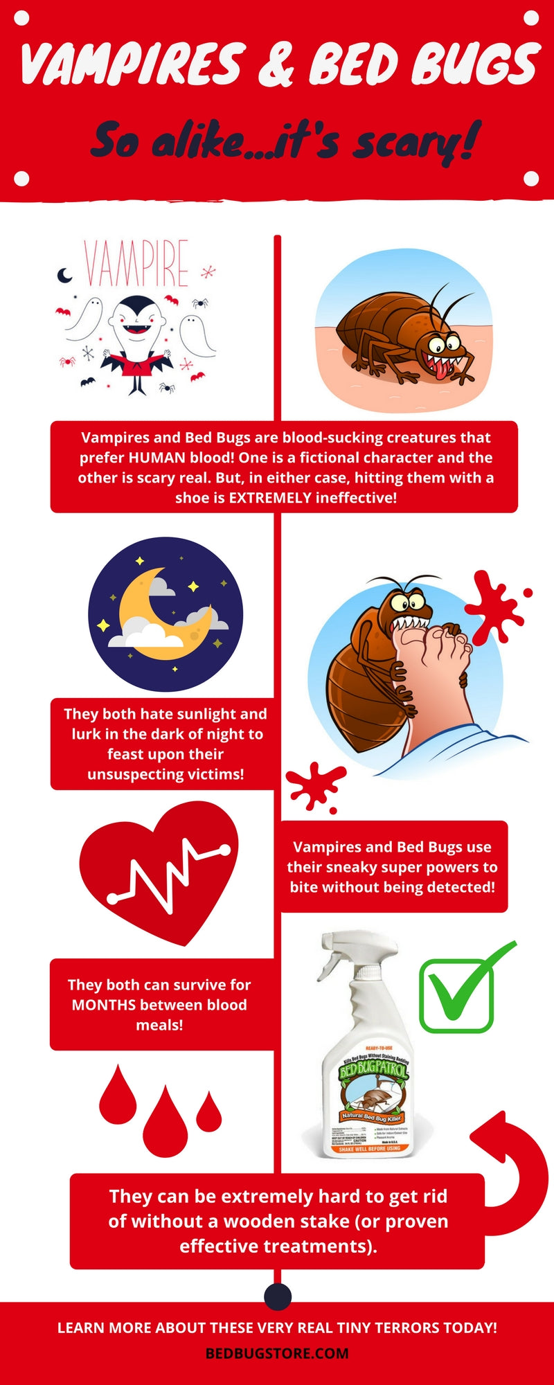 Bed Bug Patrol - Bed Bugs and Vampires Infographic