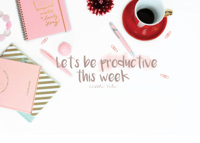 Let's be productive this week