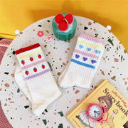 Strawberries & Love Heart Socks