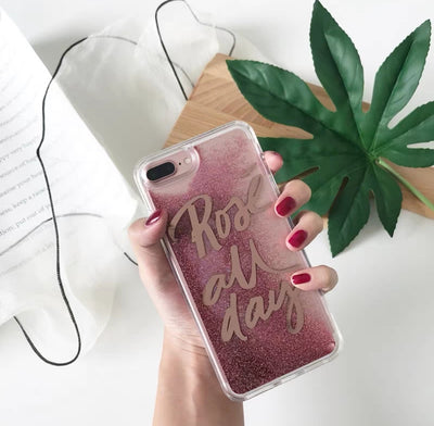 Pink Moving Glitter - Rose All Day - iPhone 6/s/7/8/X