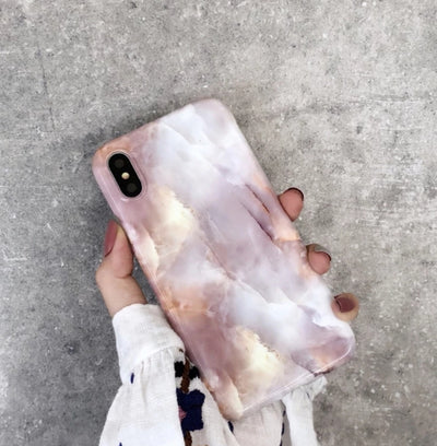 Light Pink Marble Soft Case