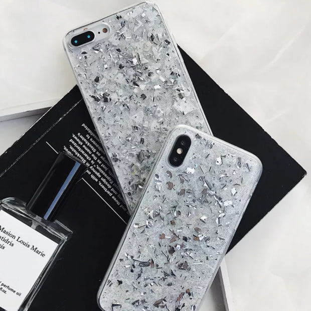 Bling Bling Silver iPhone Case