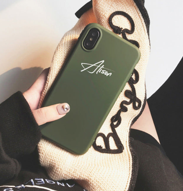 Personalized Silm Silicone Custom Phone Case - 14 colors (iPhone X/XS/XR/XSMAX)