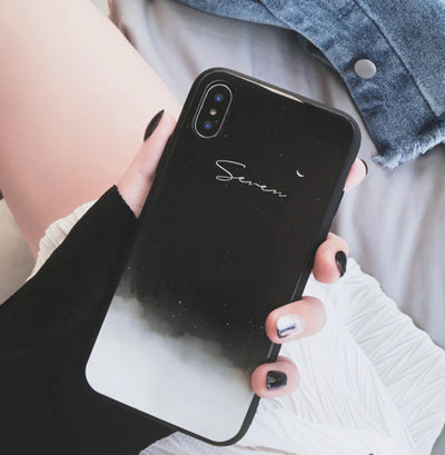 Personalized Custom Phone Case - Night Sky | Half Moon (iPhone XS MAX/ XS/X/XR/6/7/8)