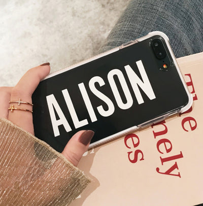 Personalized Custom Phone Case - Strong protective w/ Big words - 3 Colors
