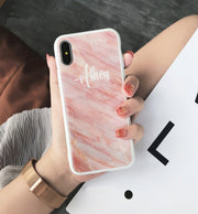 Personalized Custom Phone Case - Pink Marble
