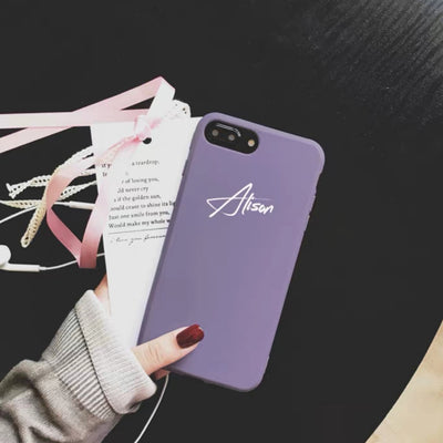 Personalized Slim Silicone Custom Phone Case - 18 colors (iPhone 6/6s/7/8)