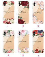 Personalized Custom Phone Case - Floral Clear (iPhone 6/7/8/X/XS/XR/XSMAX)