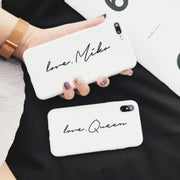 Personalized Slim Vertical Silicone Custom Phone Case - 10 colors (iPhone 6/7/8/XR/XS/X/XS MAX)