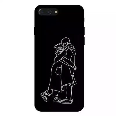 Draw your face on the case - For Couples (Black & White)
