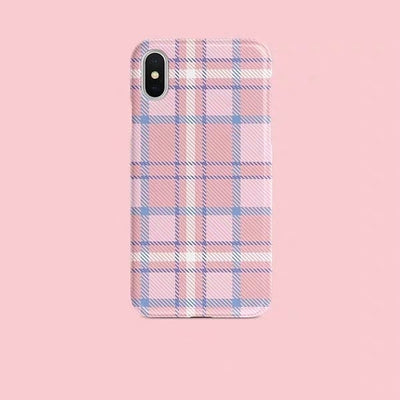 Pink Plaid Collection | Soft Phone Case | XSM/X/XS/8/7/6
