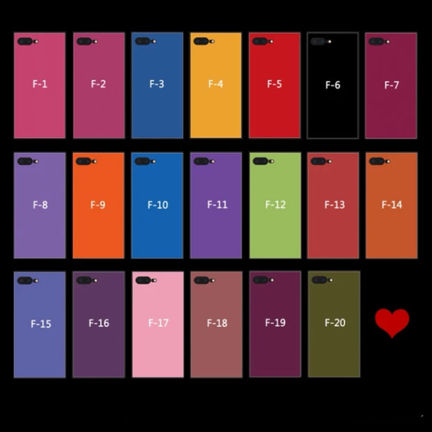 Personalized Custom Square Phone Case - 12 Colors | XS/X/8/7/6