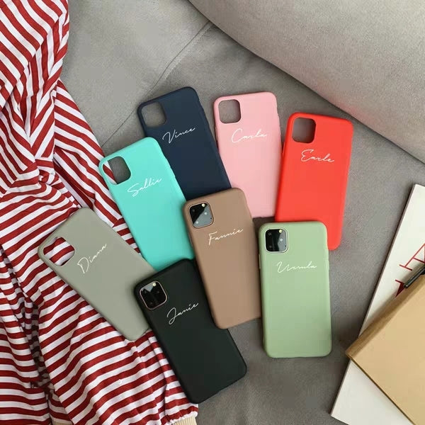 Personalized Silm Silicone Custom Phone Case - 8 colors (iPhone 11/Pro/Pro Max)