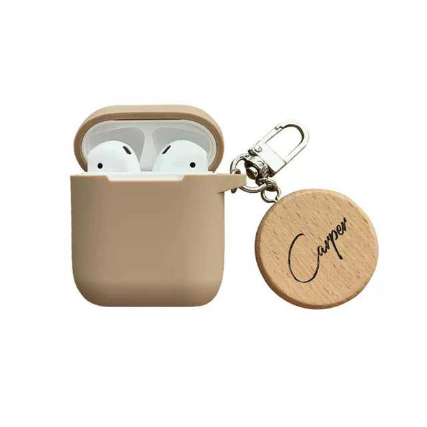 Personalized Custom Airpods Case - Wooden