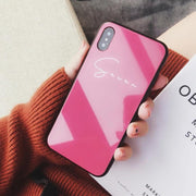 Personalized Custom Phone Case - Sleek & Clean (Pink Tone) - 12 Colors | iPhone 11/Pro/Max