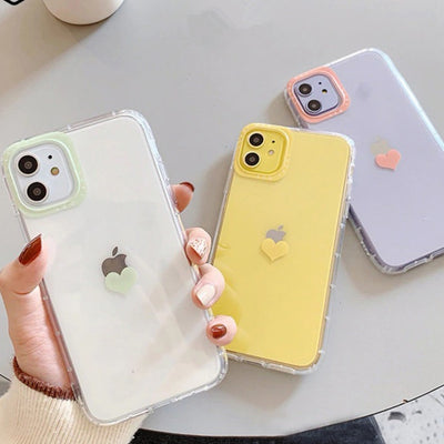Super Cute Love Heart Clear Case | iPhone 11/Pro/Max/ 10/Pro/Max/X/XS/XR/8/7/6