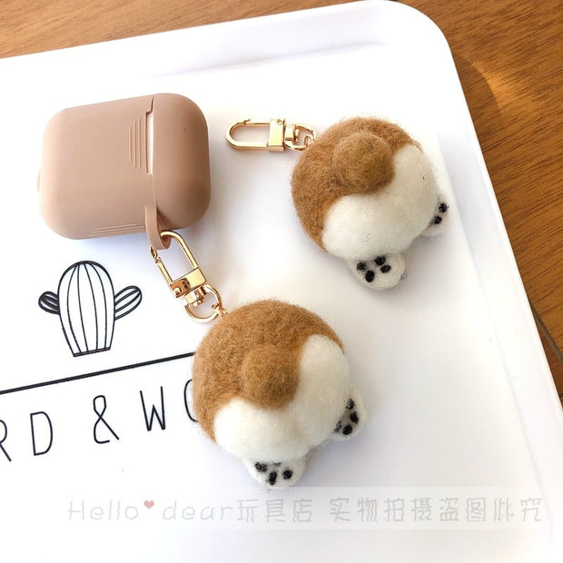 Cute Keji Dog Butt Airpods Case